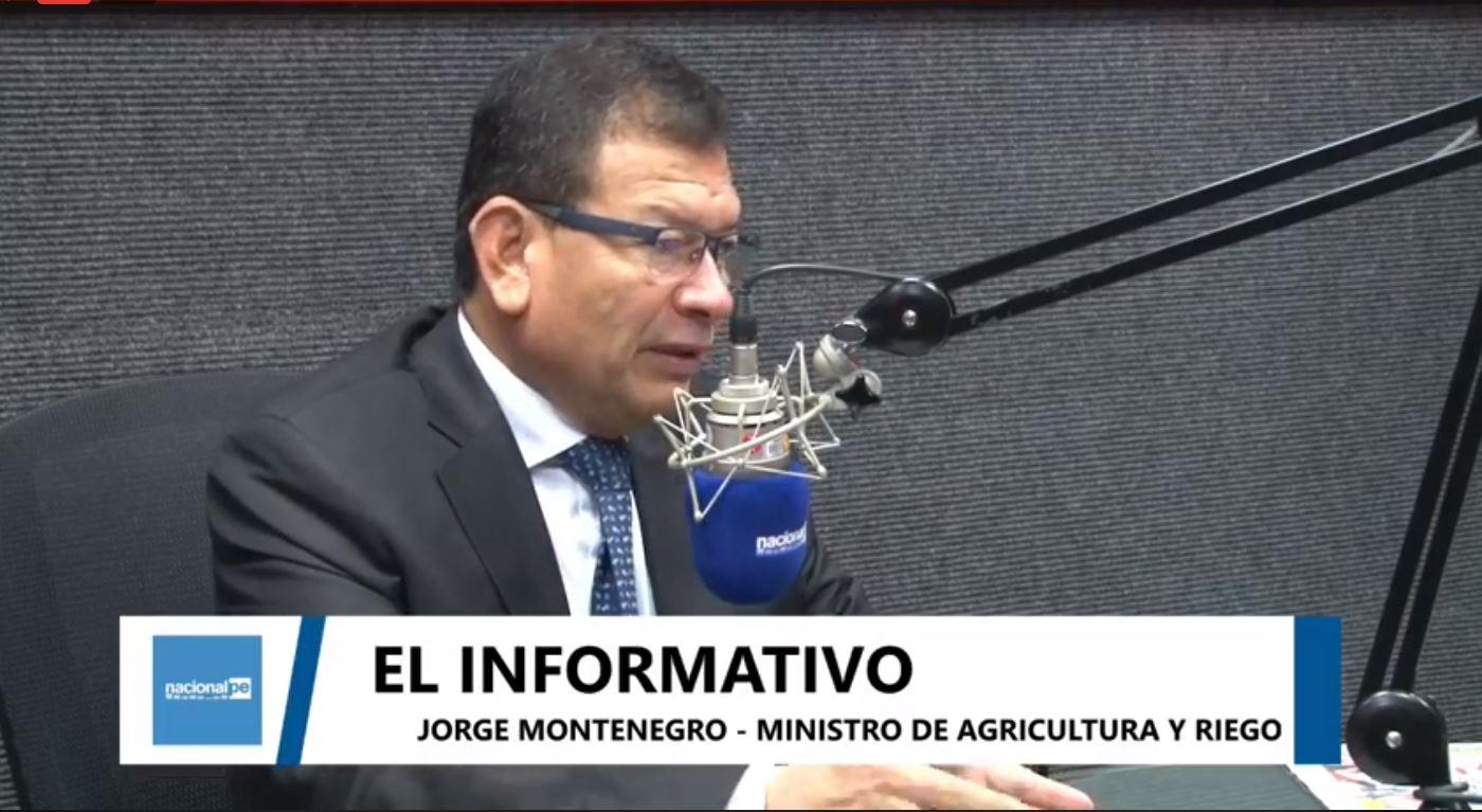 """Jorge Montenegro: """"Se ha logrado consignar 400 millones para el Fondo Agroperú"""" - Radio Nacional del Perú"""